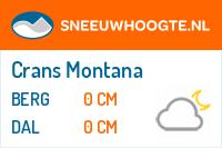 Recente sneeuwhoogtecrans montana