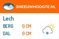 Recente sneeuwhoogte lech am arlberg