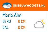 Recente sneeuwhoogte maria alm